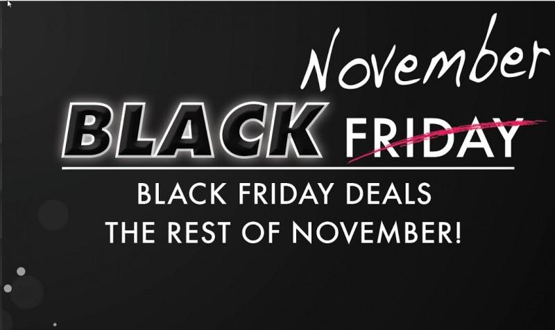 Black November Car Sales Event Banner