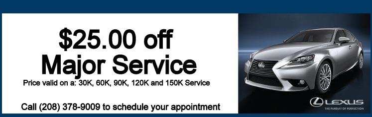 Lexus service discount coupons