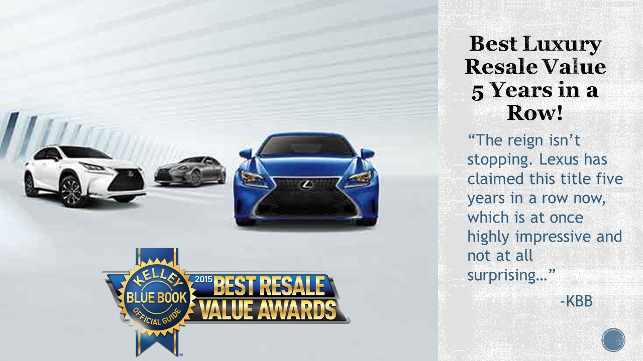 lexus dominates kbb best resale value awards peterson lexus blog. Black Bedroom Furniture Sets. Home Design Ideas