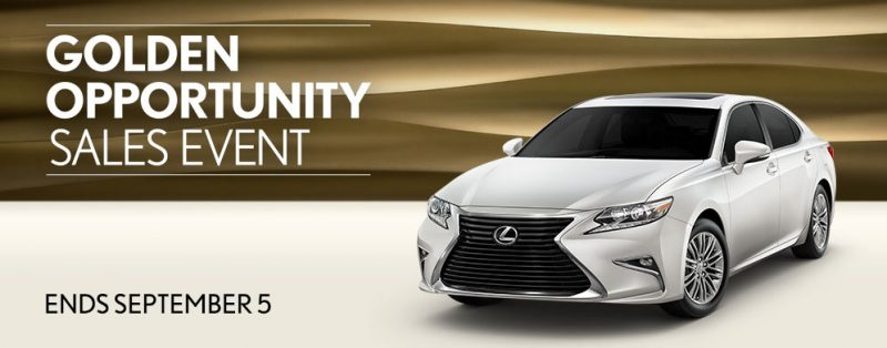 It's Here: Golden Opportunity Sales Event   Peterson Lexus Blog